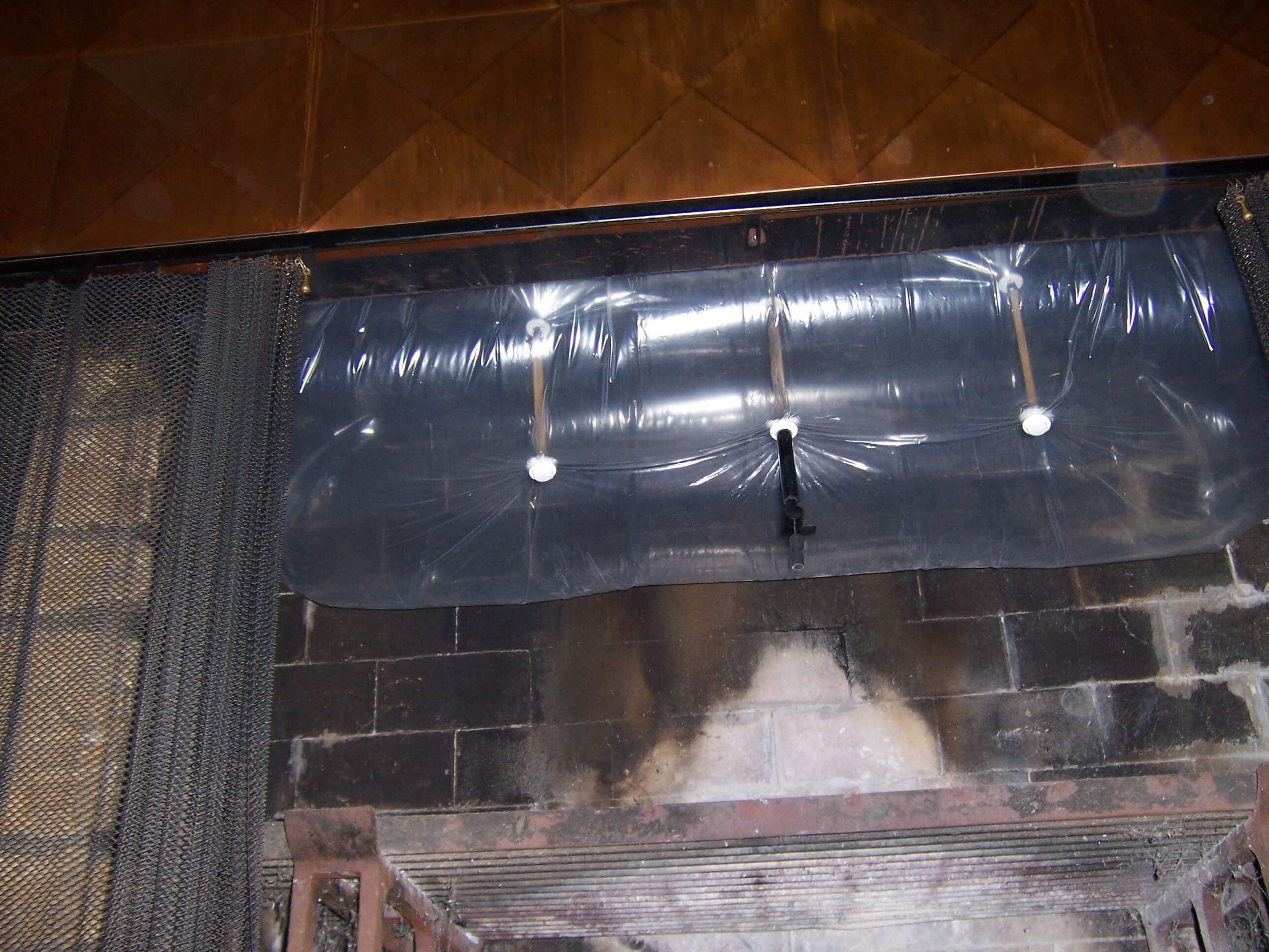 51 i have a long rectangular center pivot damper with chains hanging down how do i plug the - Chimney balloons ...