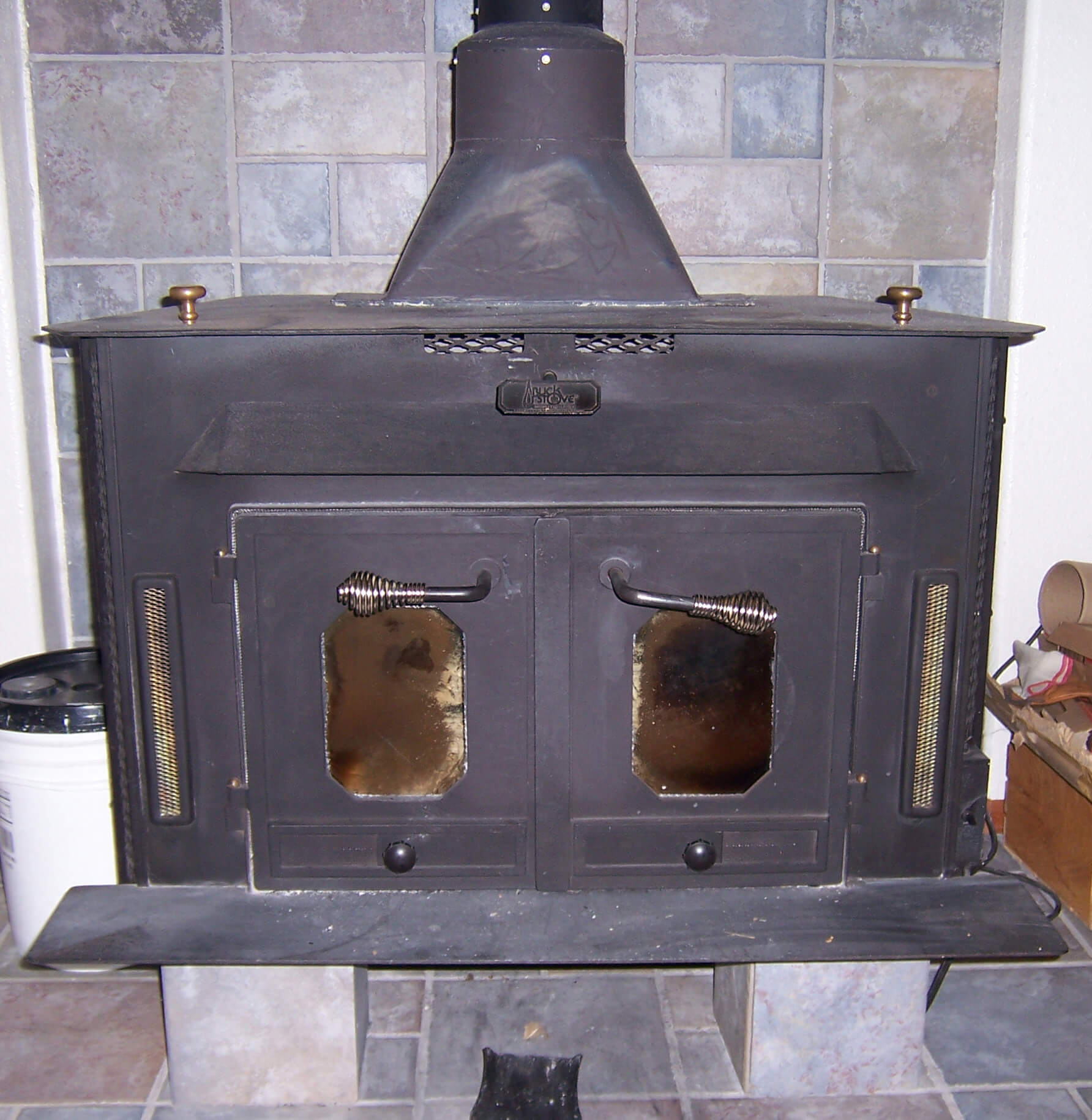 Woodstove On Blocks