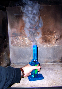 smoke backing fireplace